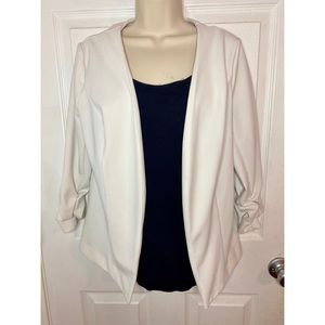 White Blazer Top
